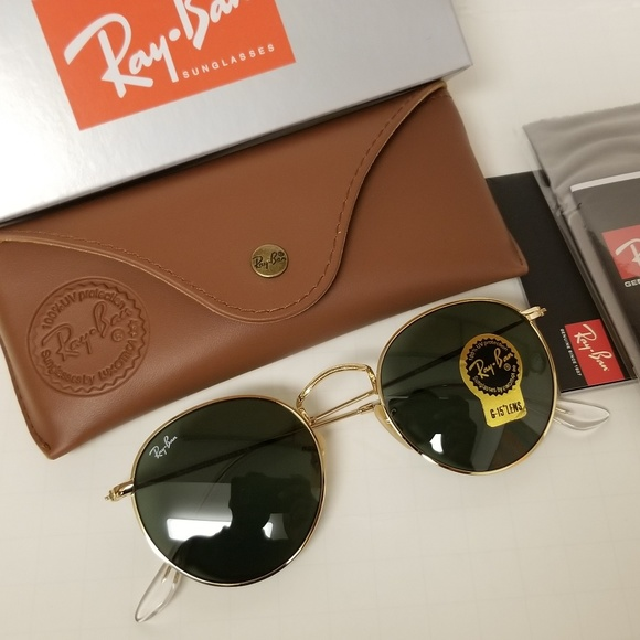 d40dd4d4e7 Ray-Ban Accessories - Ray Ban round Golden g15 classic gray green lenses